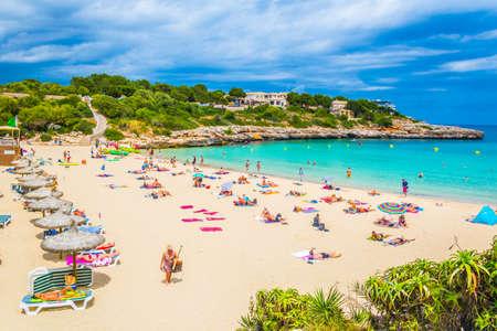 CALA MARCAL, SPAIN, MAY 20, 2017: Cala Marcal beach at Mallorca, Spain