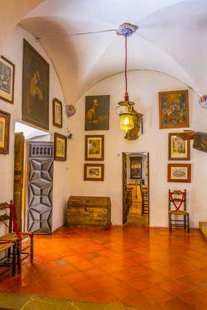 VALLDEMOSSA, SPAIN, MAY 26, 2017: Interior of Palau Rei Sanxo at Valldemossa, Mallorca, Spain