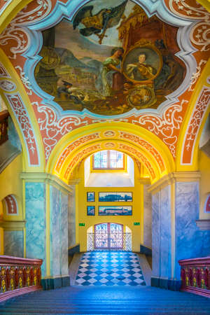 WROCLAW, POLAND, MAY 28, 2017: Interior of the University of Wroclaw, Poland