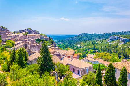 Medieval village of Les Baux des Provence in France Stock Photo