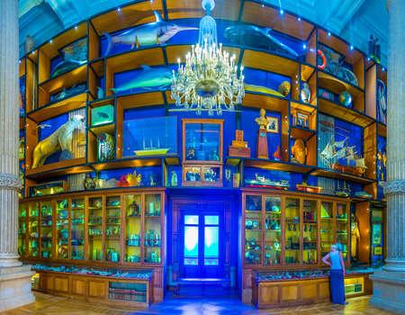 MONACO, MONACO, JUNE 14, 2017: View of interior of Musée océanographique de Monaco Standard-Bild - 108551323