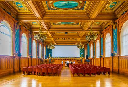 MONACO, MONACO, JUNE 14, 2017: View of interior of Musée océanographique de Monaco Standard-Bild - 108551245