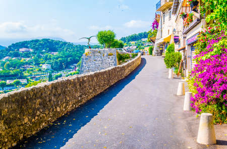 SAINT PAUL DE VENCE, FRANCE, JUNE 13, 2017: Fortification at Saint Paul de Vence village in France Editorial