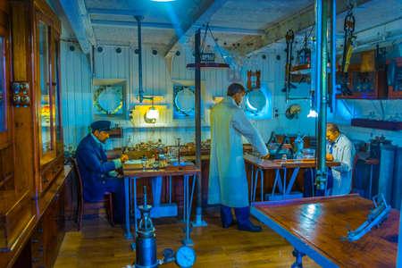 MONACO, MONACO, 14. JUNI 2017: Innenansicht des Musée océanographique de Monaco Editorial