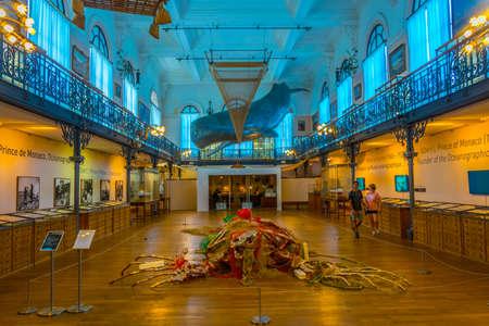MONACO, MONACO, JUNE 14, 2017: View of interior of Musée océanographique de Monaco Redactioneel