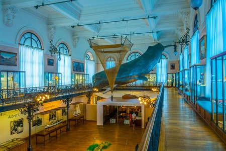 MONACO, MONACO, JUNE 14, 2017: View of interior of Musée océanographique de Monaco Standard-Bild - 108551085