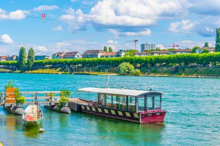 Ferry pier in Basel, Switzerland