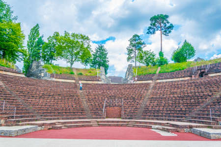 Roman theatre at Augusta Raurica, a former roman settlement near Basel, Switzerland