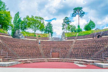 Roman theatre at Augusta Raurica, a former roman settlement near Basel, Switzerland Imagens - 116869491