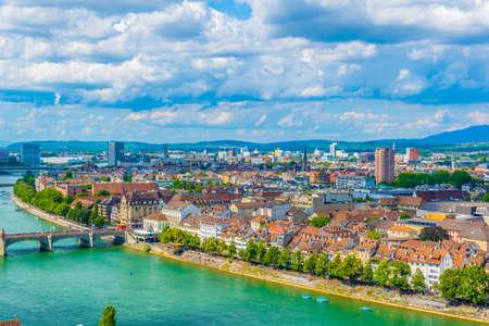 Riverside of Rhine in Basel, Switzerland
