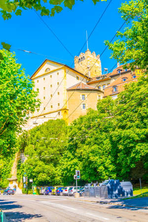Prison tower in Neuchatel, Switzerland Stock Photo