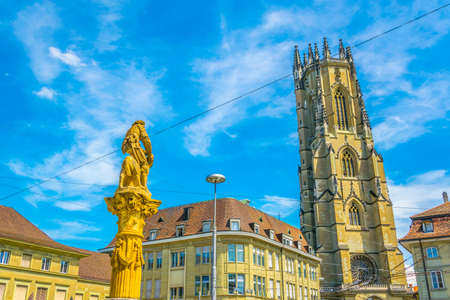 Saint Nicholas cathedral at Fribourg, Switzerland