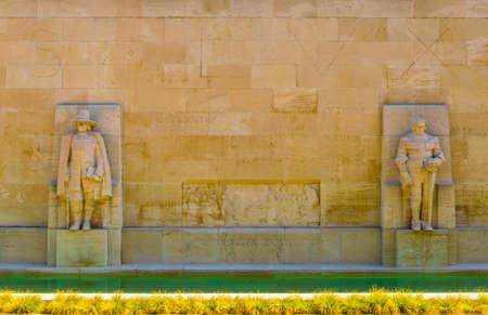 Wall of the reformators in the swiss city Geneva
