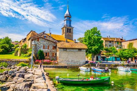 Paysage urbain de la ville française d'yvoire
