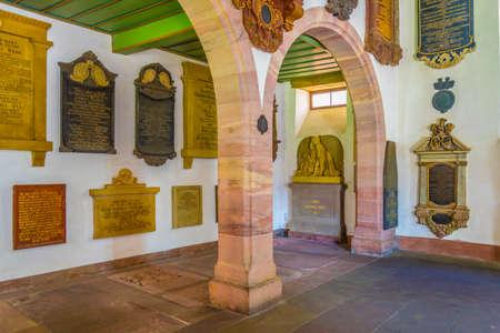 BASEL, SWITZERLAND, JULY 14, 2017: Inner courtyard of the Basler munster church in Switzerland Editorial