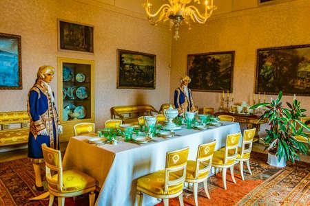 ISOLA MADRE, ITALY, JULY 27, 2017: Interior of the Borromeo Palace on Isola Madre, Italy