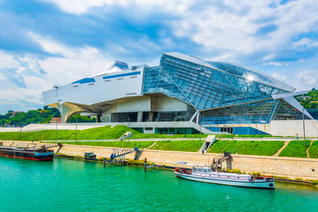 Musée des Confluences is a science and anthropology museum situated on confluence of Saone and Rhone rivers in Lyon, France Redakční