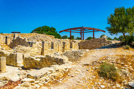 Ruins of the ancient Kourion site on Cyprus
