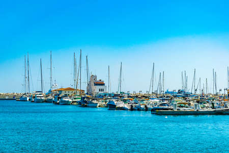 Old port in Limassol transformed into a lively tourist area, Cyprus Stockfoto