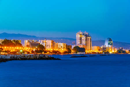 Sunset view of cityscape of Limassol on Cyprus Archivio Fotografico - 115525965