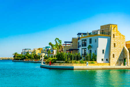Limassol marina on Cyprus Archivio Fotografico - 115526195