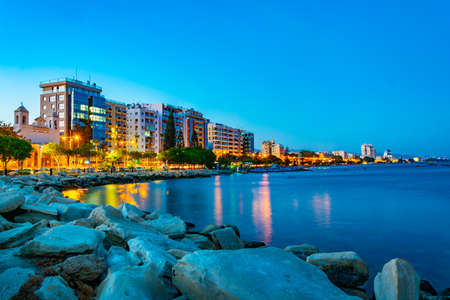 Sunset view of cityscape of Limassol on Cyprus Archivio Fotografico - 115522550