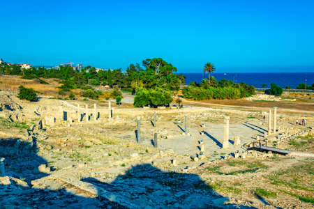Ruins of ancient Amathus on Limassol, Cyprus