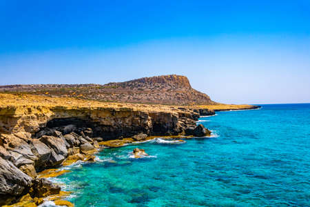 Cape Greco national park in south-eastern cyprus Archivio Fotografico - 115526277