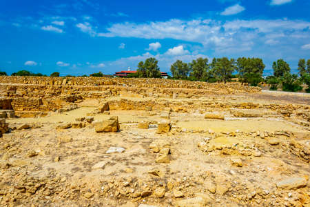 Paphos Archaeological Park on Cyprus Stock Photo
