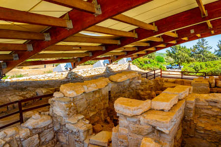 Roman bath at compound of the temple of Apollo Hylates on Cyprus