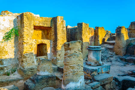 Tombs of the kings on Paphos, Cyprus Stock Photo
