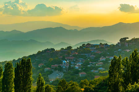 Troodos mountains on Cyprus Stock Photo