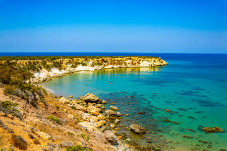Ragged coast of Akamas peninsula on Cyprus Archivio Fotografico - 115525754