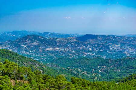 Troodos mountains on Cyprus Stock Photo