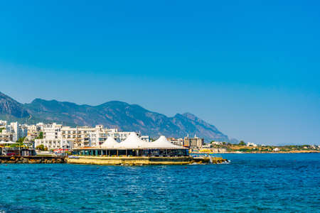 Seaside of Kyrenia, Northern Cyprus Archivio Fotografico - 115550287
