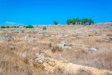 Runis of ancient Enkomi known as Alasia near Famagusta, Cyprus Stock fotó