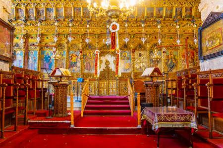LARNACA, CYPRUS, APRIL 9, 2018: Interior of the Church of Saint Lazarus in Larnaca, Cyprus Stok Fotoğraf - 115572902