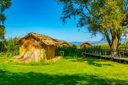 reconstructed village Choros Proistorikos  at Dispilio, Greece
