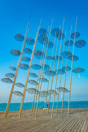 the Zongolopoulos Umbrellas in Thessaloniki, Greece Stock fotó