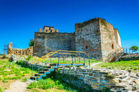 Heptapyrgion castle in Thessaloniki, Greece