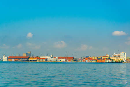 View over refurbished port in Thessaloniki, Greece Stock fotó