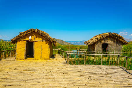 reconstructed village Choros Proistorikos  at Dispilio, Greece
