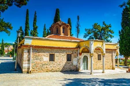 Monastery of Vlatadon in Thessaloniki, Greece 免版税图像