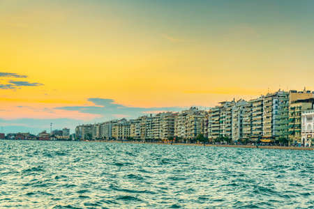 seaside promenade in Thessaloniki, Greece