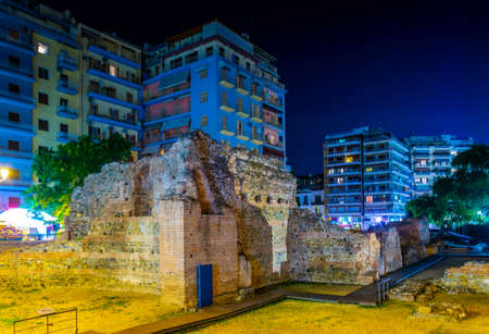 Ruins of the imperial palace in Thessaloniki, Greece