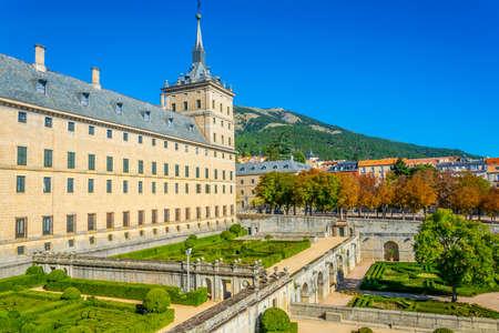 Royal Seat of San Lorenzo de El Escorial near Madrid, Spain Foto de archivo