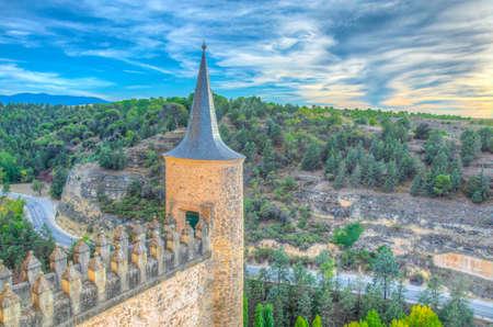 Alcazar de Segovia in Spain