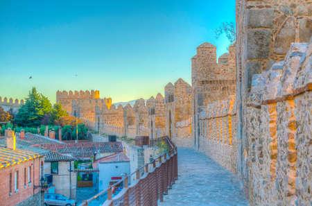 Fortification of spanish town Avila