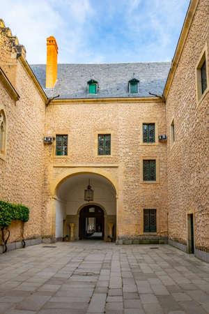 Inner courtyard of Alcazar de Segovia in Spain Stockfoto