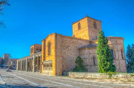 Basilica of San Vicente at Avila, Spain Stock Photo